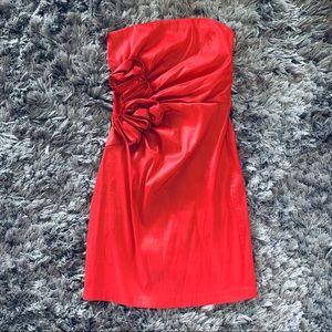 Jessica McClintock Vintage Red Bodycon Mini Dress